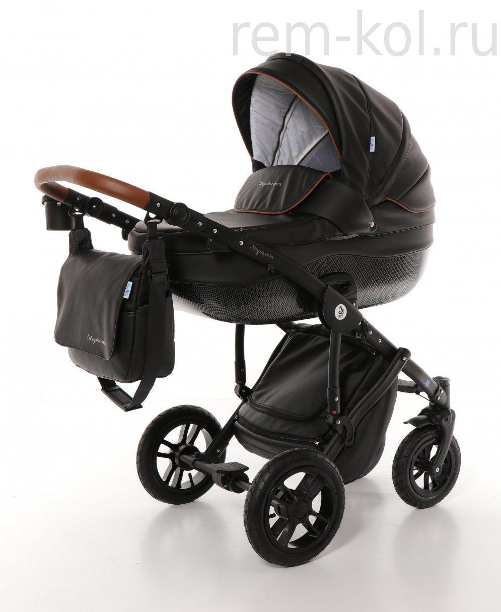 Детская коляска Noordline Stephania Style 2 в 1 Черная/Черная