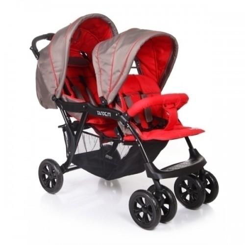 Детская прогулочная коляска для двойни Baby Care Tandem